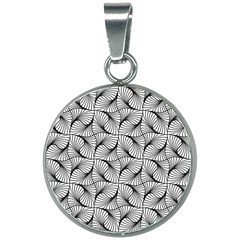 Abstract Seamless Pattern 20mm Round Necklace