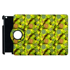 Flowers Yellow Red Blue Seamless Apple Ipad 2 Flip 360 Case