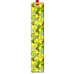 Flowers Yellow Red Blue Seamless Large Book Marks by Pakrebo