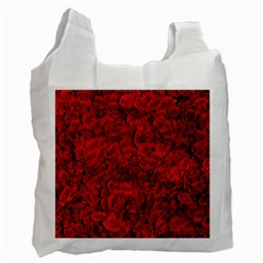 Rose Roses Flowers Red Valentine Recycle Bag (one Side)