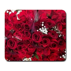 Roses Baby S Breath Bouquet Floral Large Mousepads