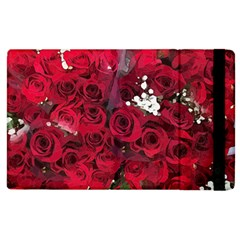 Roses Baby S Breath Bouquet Floral Apple Ipad 3/4 Flip Case by Pakrebo