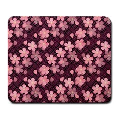 Cherry Blossoms Japanese Style Pink Large Mousepads