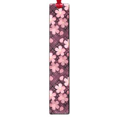 Cherry Blossoms Japanese Style Pink Large Book Marks by Pakrebo
