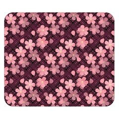 Cherry Blossoms Japanese Style Pink Double Sided Flano Blanket (small)