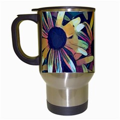 Spring Floral Black Eyed Susan Travel Mugs (white)