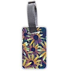 Spring Floral Black Eyed Susan Luggage Tags (one Side)
