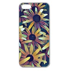 Spring Floral Black Eyed Susan Apple Seamless Iphone 5 Case (clear)