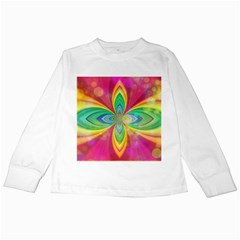 Color Abstract Form Ellipse Bokeh Kids Long Sleeve T Shirts by Pakrebo