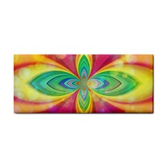 Color Abstract Form Ellipse Bokeh Hand Towel by Pakrebo