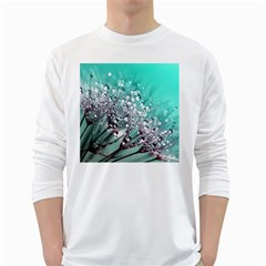Dandelion Seeds Flower Nature Long Sleeve T Shirt by Pakrebo