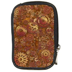 Gears Cogs Industrial Machinery Compact Camera Leather Case