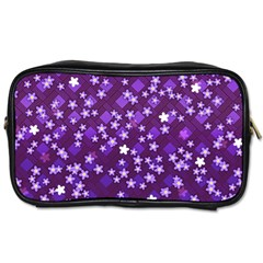 Textile Cross Pattern Square Toiletries Bag (one Side)