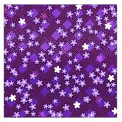 Textile Cross Pattern Square Large Satin Scarf (square)