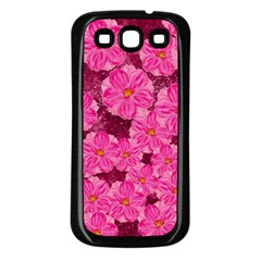 Cherry Blossoms Floral Design Samsung Galaxy S3 Back Case (black) by Pakrebo