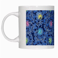 Floral Design Asia Seamless Pattern White Mugs