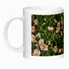 Pink Flowers Leaves Spring Garden Night Luminous Mugs