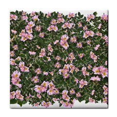 Pink Flowers Leaves Spring Garden Face Towel