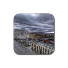 Ohio Supreme Court View Rubber Coaster (square)  by Riverwoman