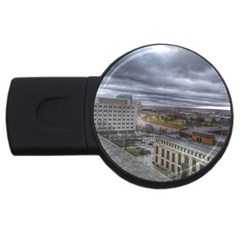 Ohio Supreme Court View Usb Flash Drive Round (4 Gb) by Riverwoman