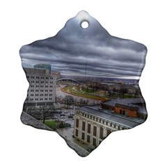 Ohio Supreme Court View Ornament (snowflake) by Riverwoman