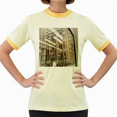 Chicago L Morning Commute Women s Fitted Ringer T-shirt by Riverwoman