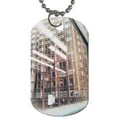 Chicago L Morning Commute Dog Tag (two Sides) by Riverwoman