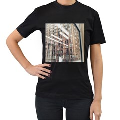 Chicago L Morning Commute Women s T-shirt (black) (two Sided) by Riverwoman