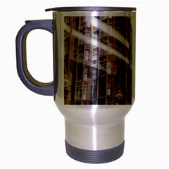 Chicago L Morning Commute Travel Mug (silver Gray) by Riverwoman