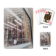 Chicago L Morning Commute Playing Cards Single Design by Riverwoman
