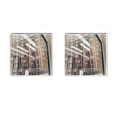 Chicago L Morning Commute Cufflinks (square) by Riverwoman