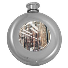 Chicago L Morning Commute Round Hip Flask (5 Oz) by Riverwoman