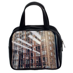Chicago L Morning Commute Classic Handbag (two Sides) by Riverwoman