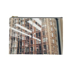 Chicago L Morning Commute Cosmetic Bag (large) by Riverwoman