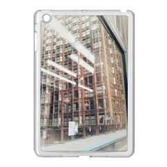 Chicago L Morning Commute Apple Ipad Mini Case (white) by Riverwoman