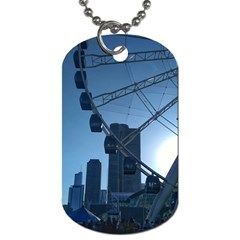 Navy Pier Chicago Dog Tag (two Sides) by Riverwoman