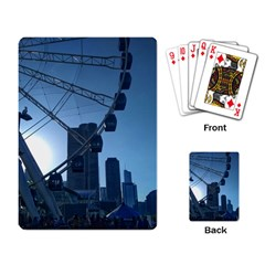 Navy Pier Chicago Playing Cards Single Design by Riverwoman