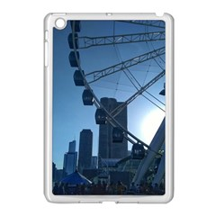 Navy Pier Chicago Apple Ipad Mini Case (white) by Riverwoman