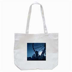 Navy Pier Chicago Tote Bag (white) by Riverwoman