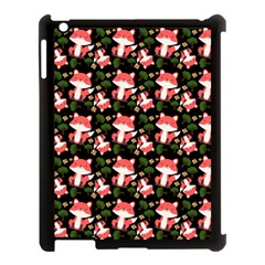 Fox And Trees Pattern Apple Ipad 3/4 Case (black)