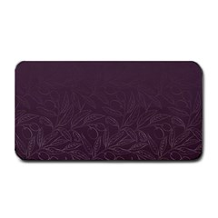 Organic Olive Leaves Pattern Hand Drawn Purple Red Wine Medium Bar Mats by genx