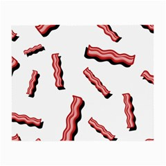 Funny Bacon Slices Pattern Infidel Red Meat Small Glasses Cloth (2 Sides) by genx