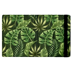 Green Tropical Leaves Apple Ipad 2 Flip Case by goljakoff