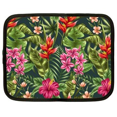 Tropical Flowers Paint Netbook Case (xxl) by goljakoff