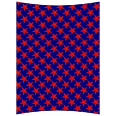 Red Stars Pattern On Blue Back Support Cushion
