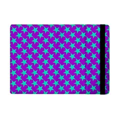 Turquoise Stars Pattern On Purple Ipad Mini 2 Flip Cases by BrightVibesDesign