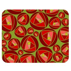 Abstract Rose Garden Red Double Sided Flano Blanket (medium)