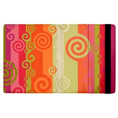 Ring Kringel Background Abstract Red Apple Ipad Mini 4 Flip Case by Mariart