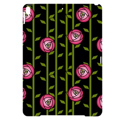 Abstract Rose Garden Apple Ipad Pro 10 5   Black Frosting Case