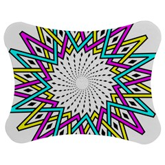 Sun Abstract Mandala Plaid Jigsaw Puzzle Photo Stand (bow) by AnjaniArt